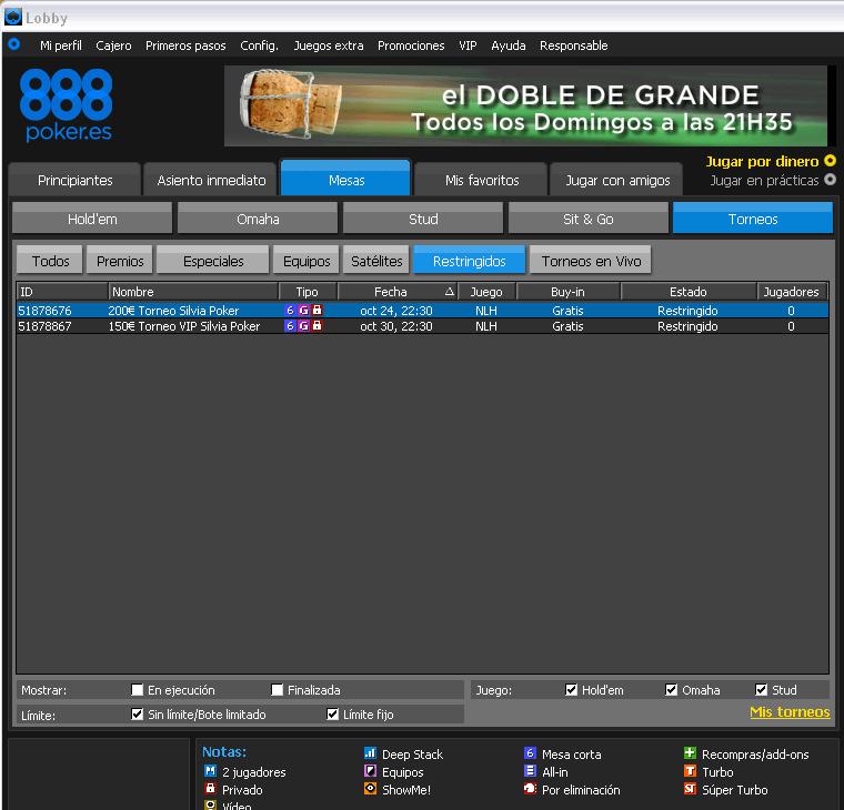 888 poker web vuelta al Juego con 1000€ 627130