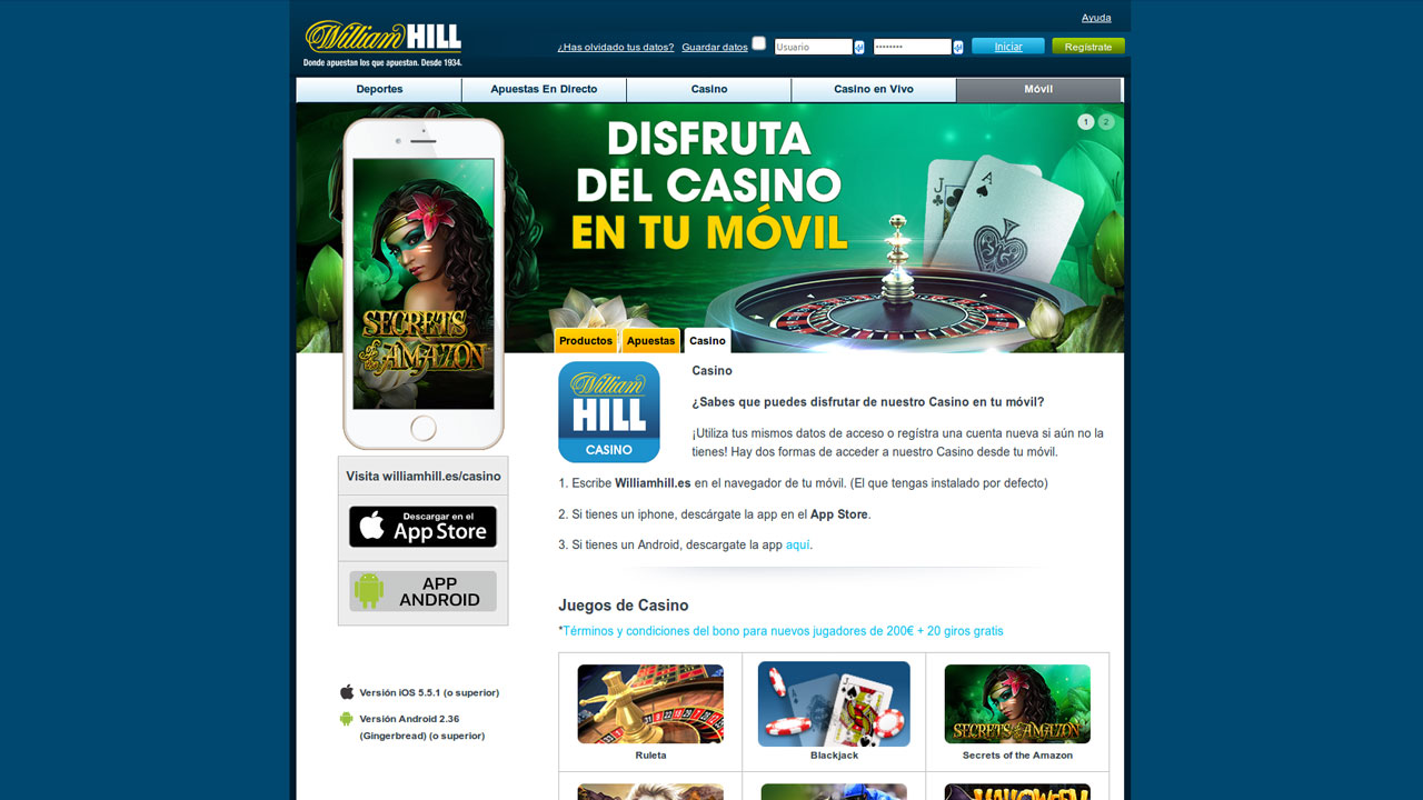 Juegos casino el celular william Hill es 393497