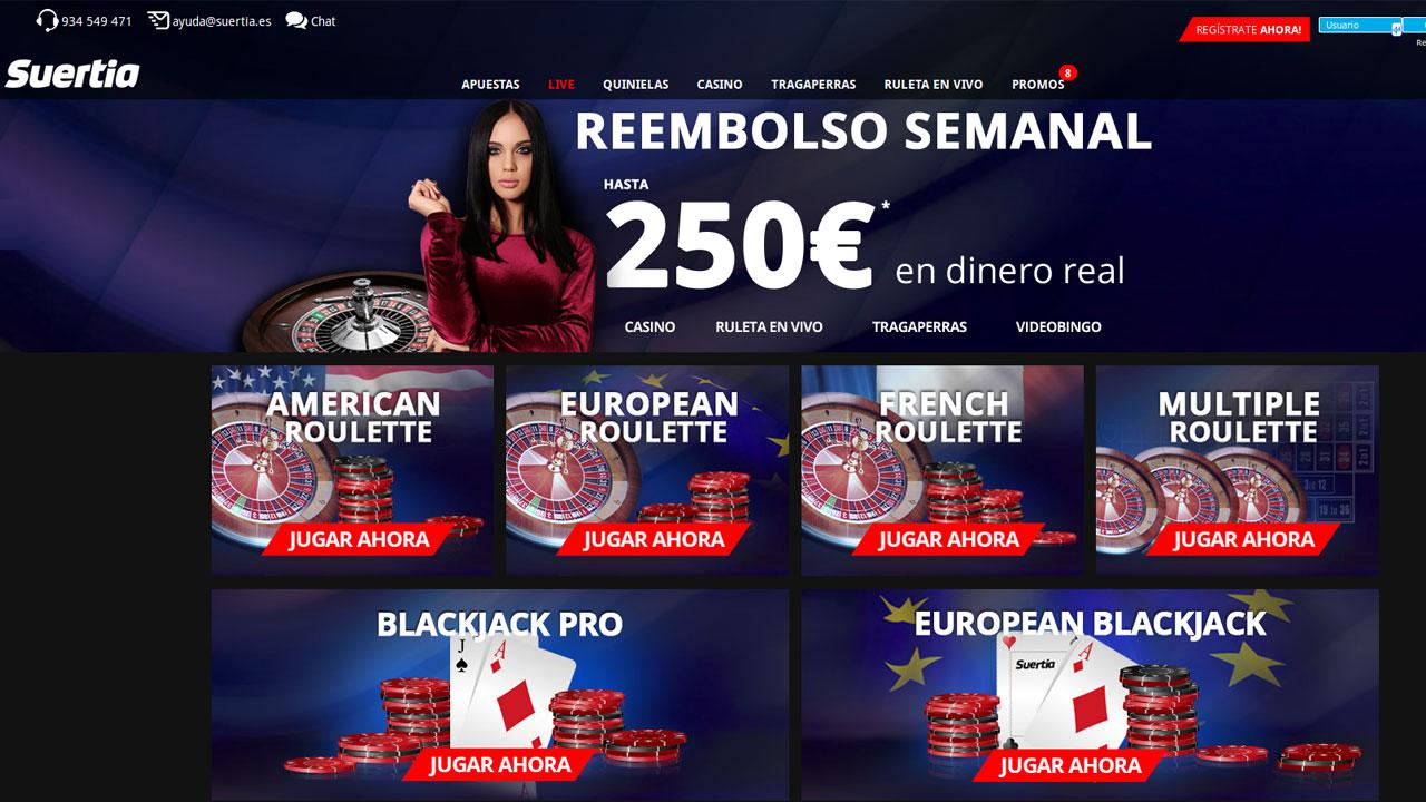 Bonos sin deposito móvil del casino Suertia 809366