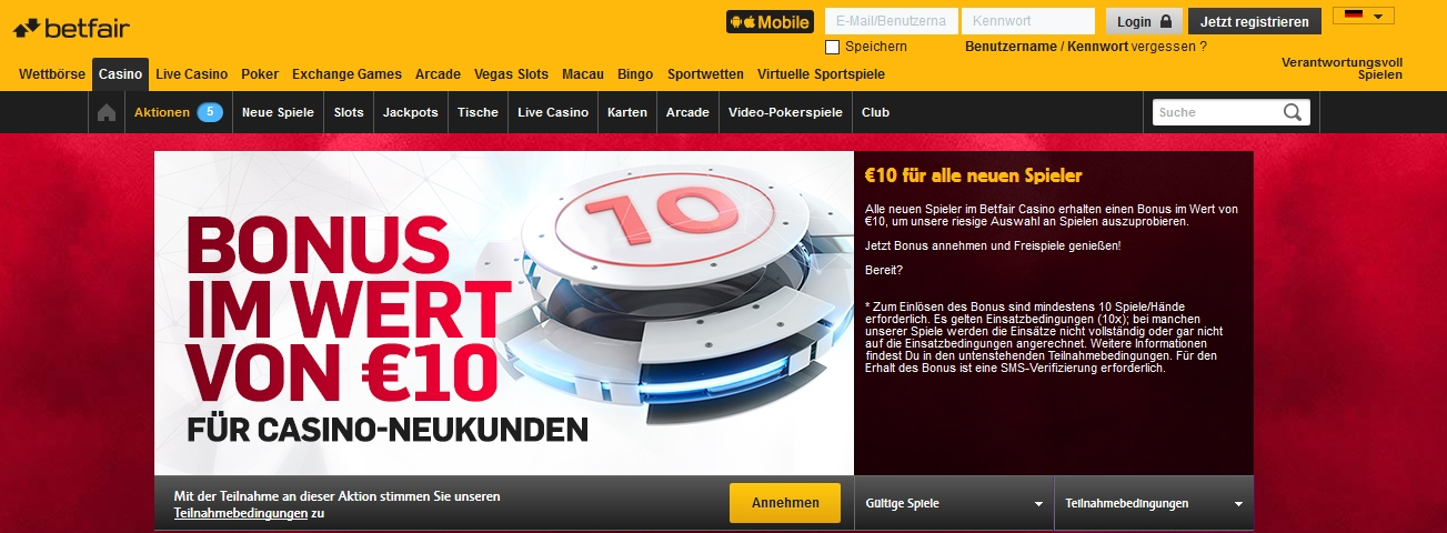 50€ gratis BETFAIR betway casino 234715