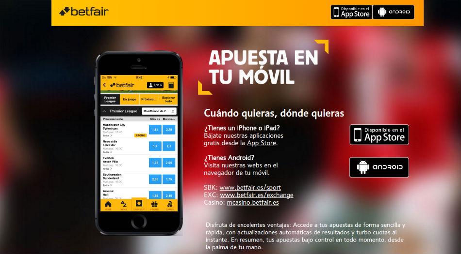 Bono sportsbook betfair juega desde tu smartphone sin riesgos 779626