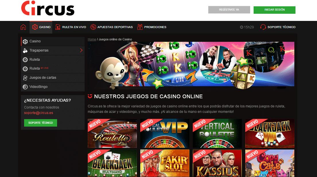 Casino online real noticias del circus 12509