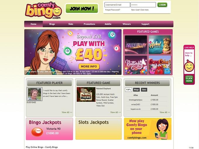 Comfy bingo marca apuestas 718277