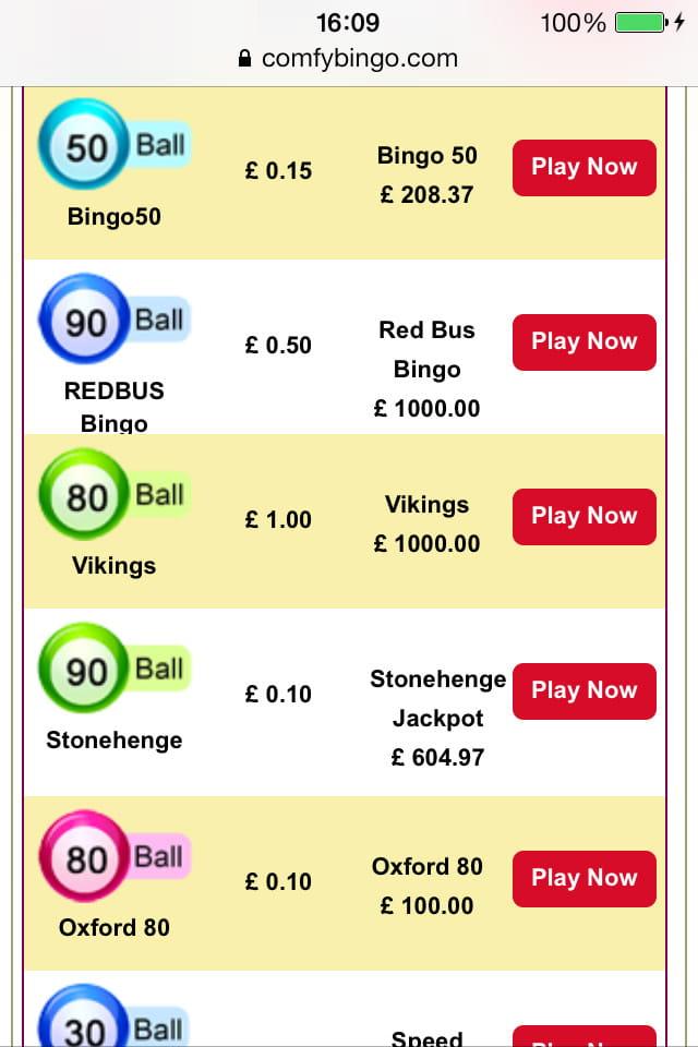 Comfy bingo casino betsson 884083