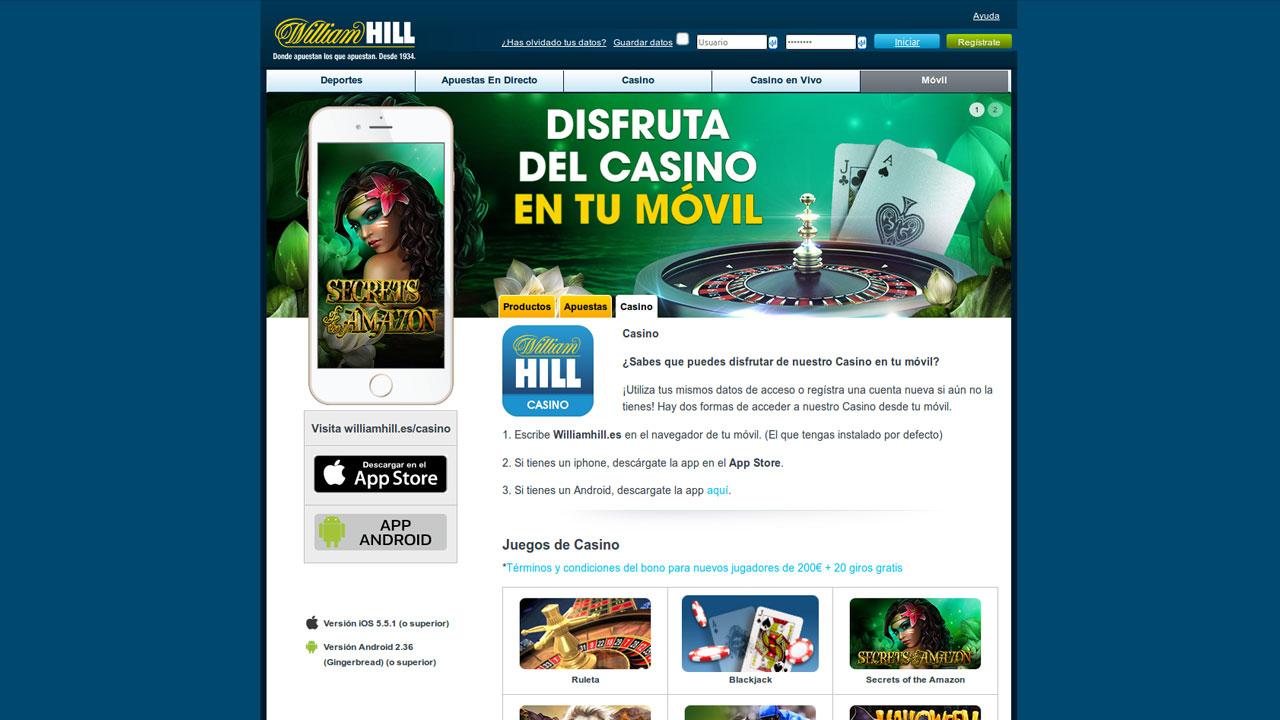 Bono de bienvenida william hill juegos casino online gratis Murcia 73872