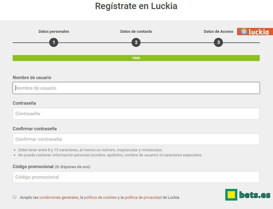 Luckia bet gratis bonos Tómbola 486831