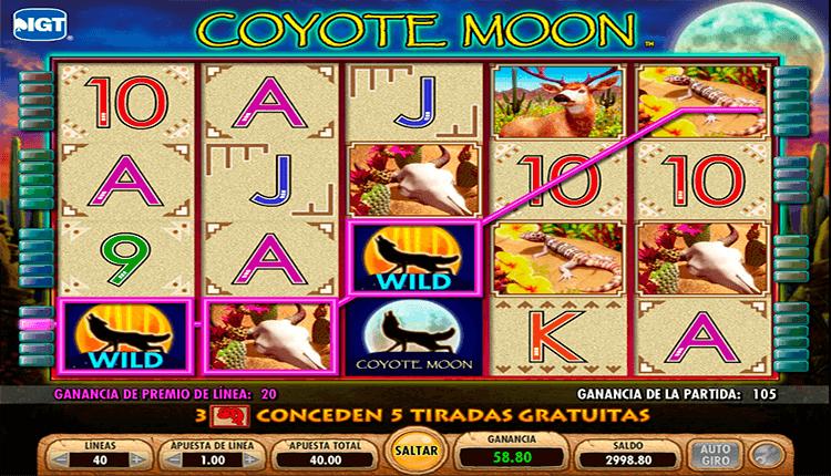 Tragamonedas sin descargar coyote moon tiradas gratis Thunderkick 186239