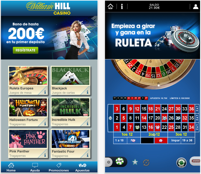 Bono de bienvenida casino william Hill es 71651