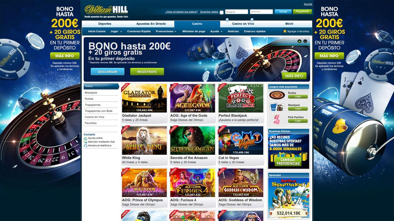 Bono de bienvenida william hill juegos casino online gratis Murcia 660392