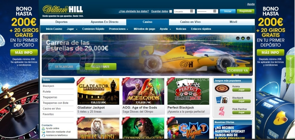 Bono de bienvenida william hill juegos casino online gratis Murcia 472414
