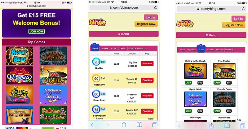 Comfy bingo marca apuestas 857100