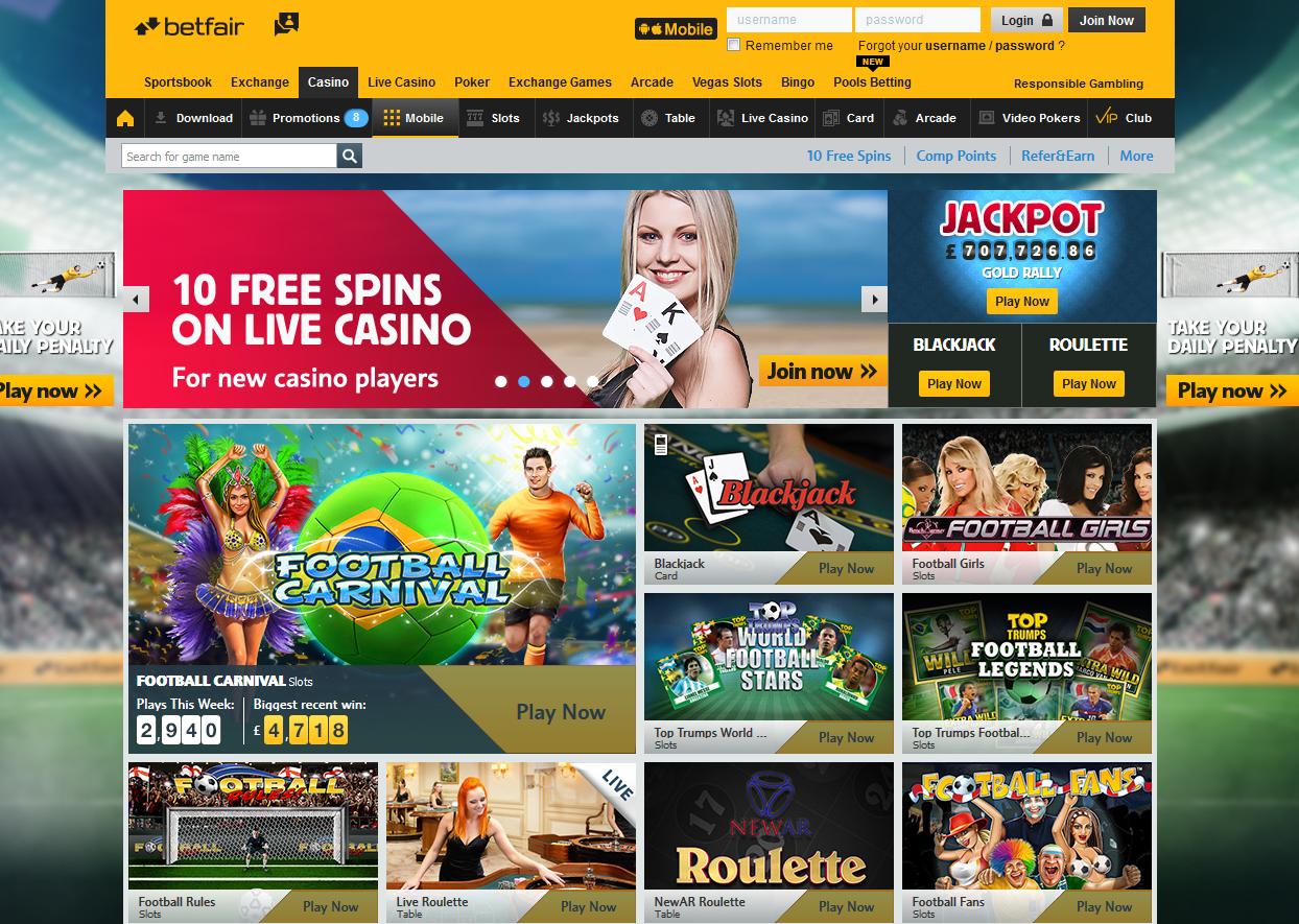 Betfair casino online software 247926