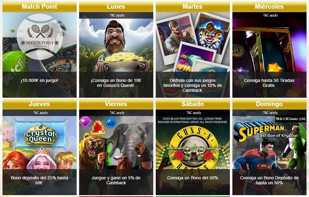 Promociones casino online Nuevos 127987